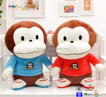 Lovely Monkey Stuffedtoy set high quality customized plush toy