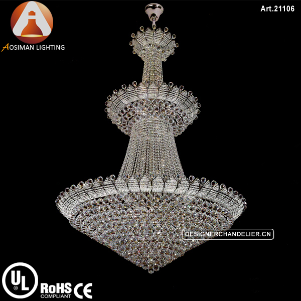 Hotel Luxury Crystal Chandelier in Empire Style