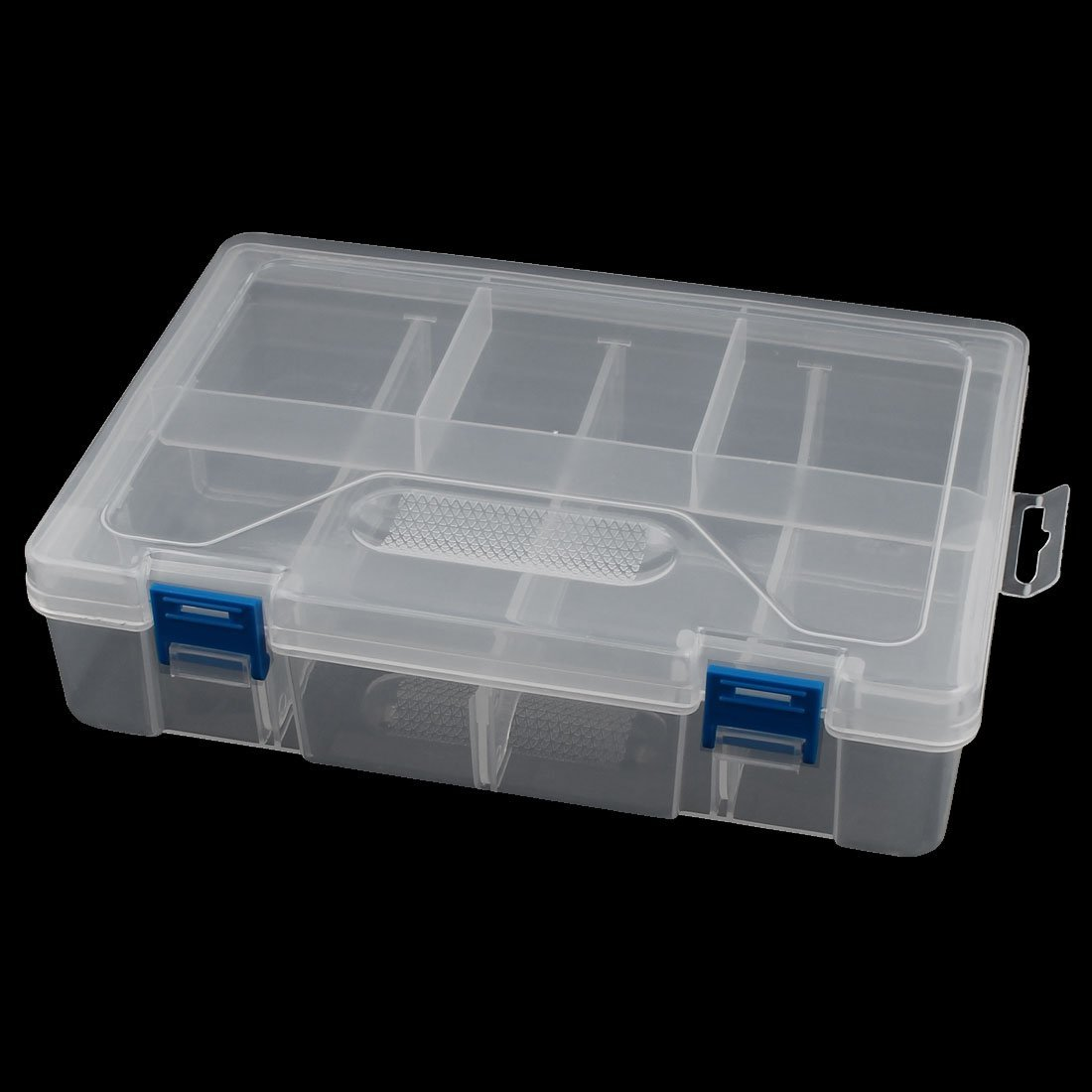 uxcell Clear Plastic 2 Layers 8 Compartments Electronic Component Case Holder