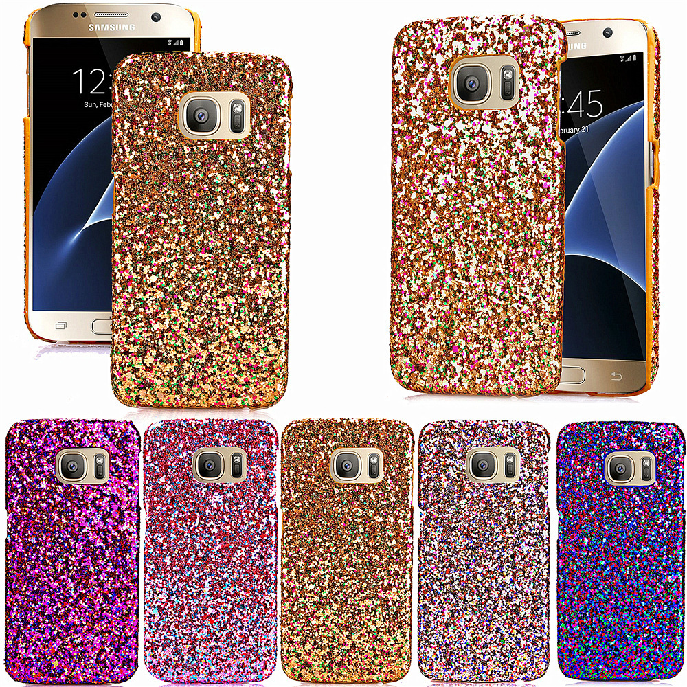 cheap for discount f58a6 7ca72 Newest Glitter Hard Pc Case Bling Veneer Gluding Leather Shiny Sparkle Skin  Rhinestone Diamond Cover For Galaxy S7 S7edge Lg G5 - Buy Newest Glitter ...