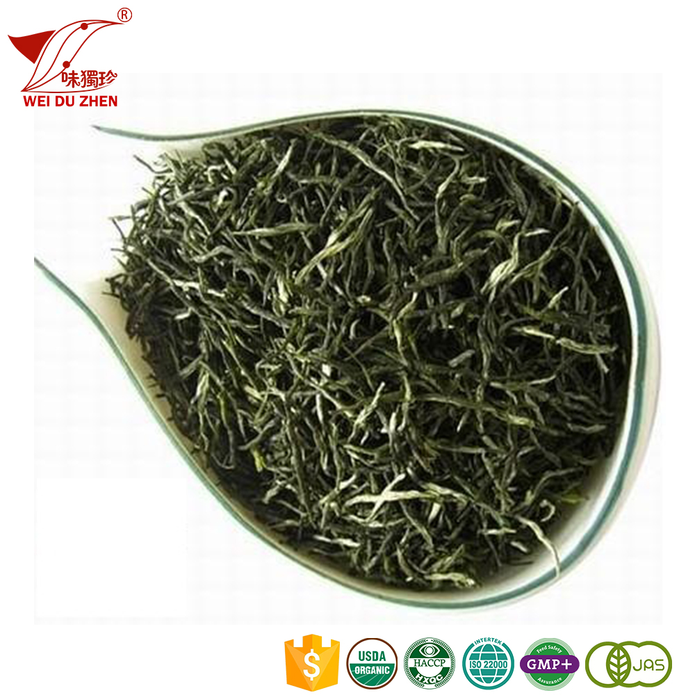 Top Class SiChuan Province Darkish Green Deep Flavor Instant Ginger Tea Bulk Medicinal Graded Green Tea Leaves