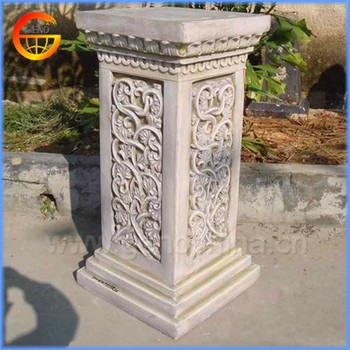 Merveilleux Home And Garden Fiberstone Flower Pot Stand Roman Pillar Design
