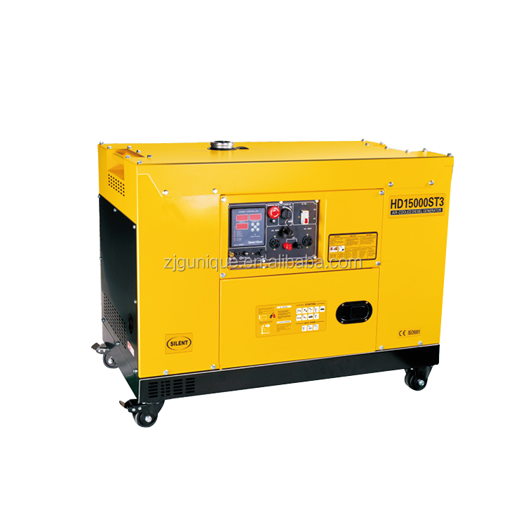 Electric Starting Engine Fully Closed Three Phase Silent Diesel Generator