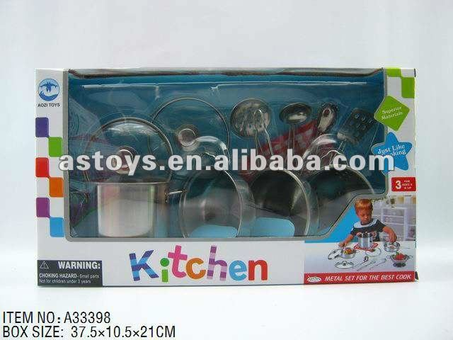 Stainless Steel Tea Set/Children Kitchen Toys Play Set/Iron Tableware