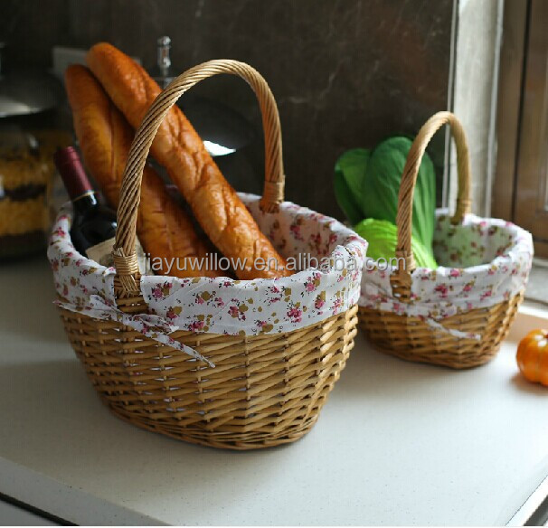 handmade wicker gift basket wicker fruit vegetable basket stand kitchen storage basket