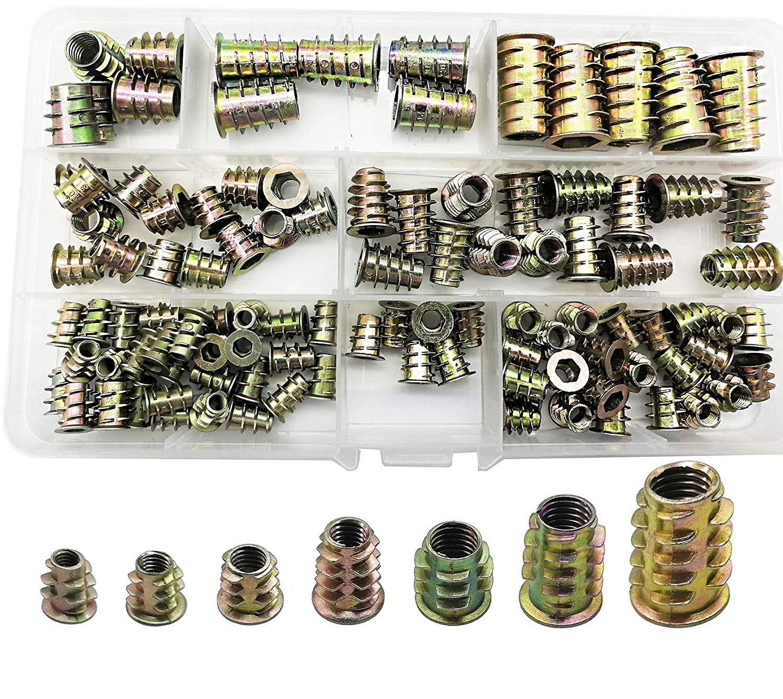 CSLU 106pcs Alloy Steel Socket Cap Screws Hex Head Bolt Assortment Kit with Box M4 M5 M6 M8 M10 Thread Metric Size Black Oxide Finish