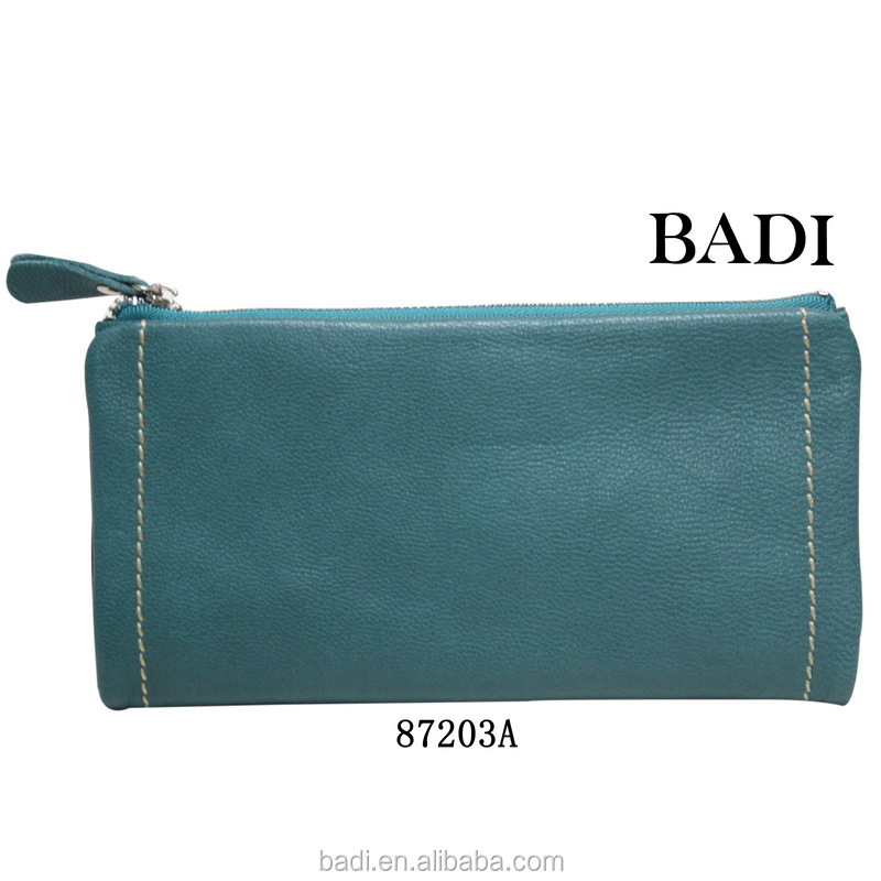 2014 new genuine leather purses for ladies