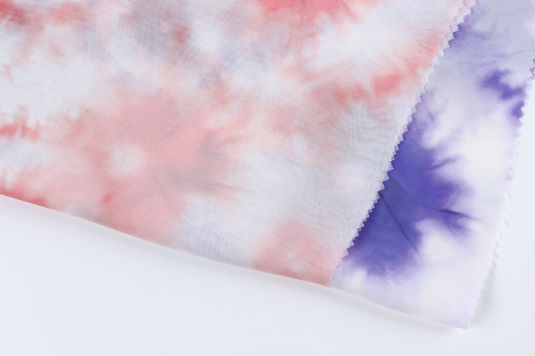 Kitted textiles fabric woven plain custom floral printed polyester flower chiffon fabric