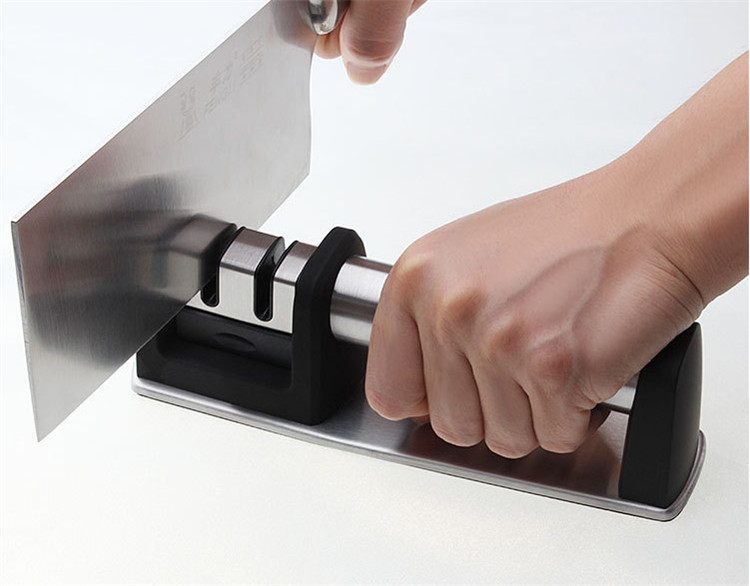 new Stainless steel 2 stage knife sharpener Handheld knife sharpener