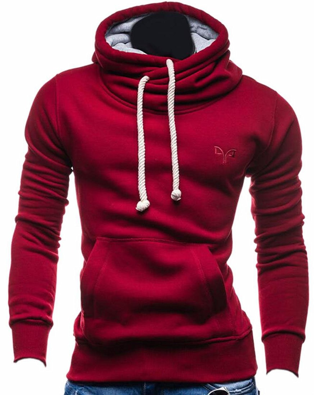 Jmwss QD Womens Casual Relaxed Fit Solid Long Sleeve Hoodies Pullover Sweatshirts