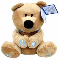 Customized Prayer Bear Plush Stuffed Animal with Prayer Book and Backpack