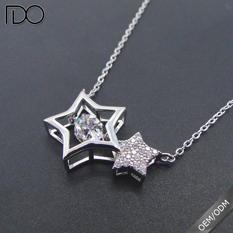Luxury custom dancing diamond lady necklace jewellery diamond