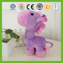 New design hand made safe purple plush horse toy for girls