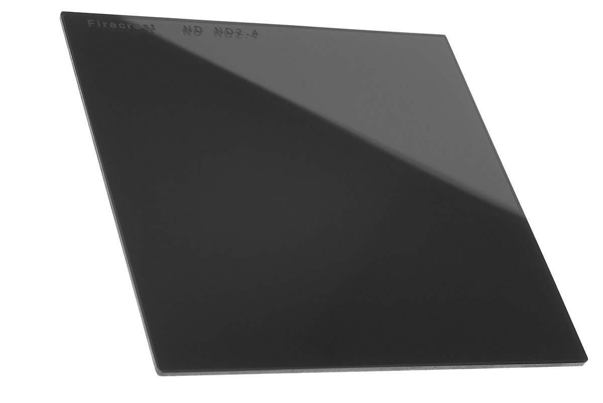 "Firecrest ND 100x100mm (4""x4"") Neutral Density 2.4 (8 Stops) filter for Firecrest 100mm holder, Formatt Hitech 100mm Modular Holder, Lee 100mm System, Nisi 100mm System"