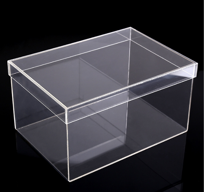 JISEN Custom Transparent Acrylic Shoes Box With Lid Manufacturers