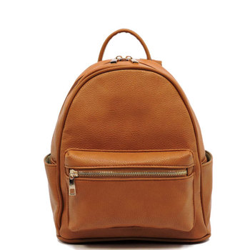 Ladies Elegant Backpack Leather Anti Theft Military Brown Backpack ... 94ce40f06