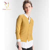 Womens Yellow Cable Knitted Cardigan,Wool Cardigan Womens Sweaters