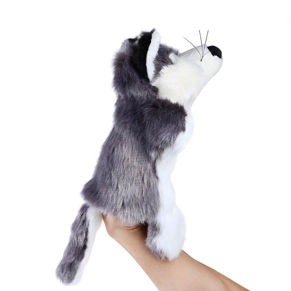 Hand Puppet Plush Toy Dolls Gray Fox and Elephant Role Play puppets Set for kids Sold by AINOLAWY (2 Pack)