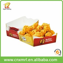 Hot sell biodegradable paper cone paper box for fried chicken tray in western countries