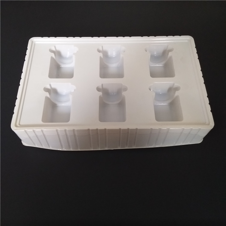 White color vitamin Medication plastic blister packs tray