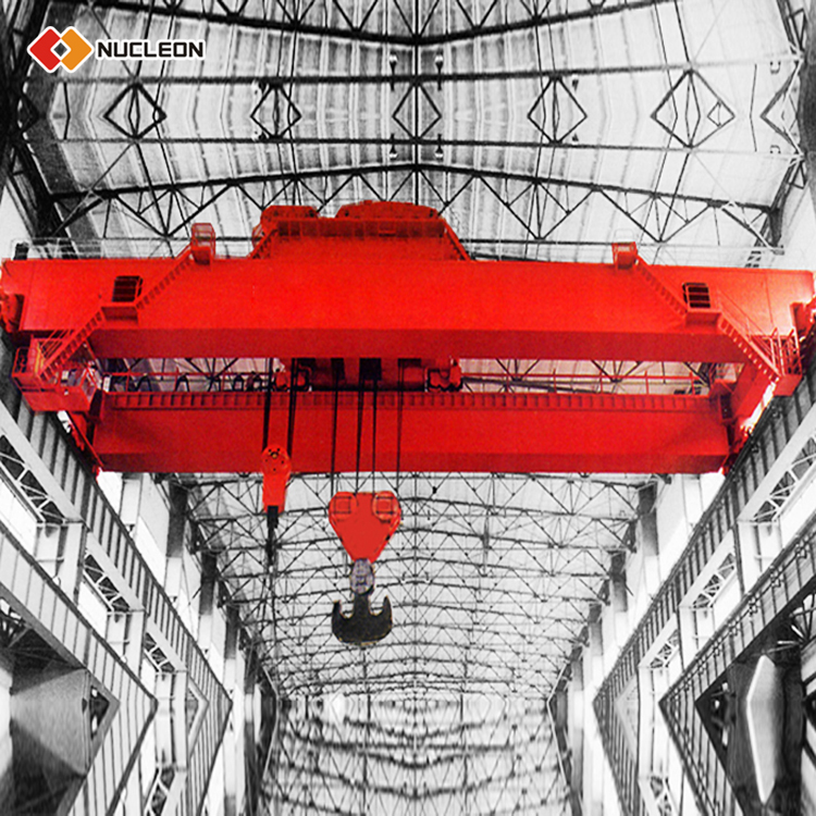 Nucleon มือถือไฟฟ้า Double Girder Overhead Shop Cranes