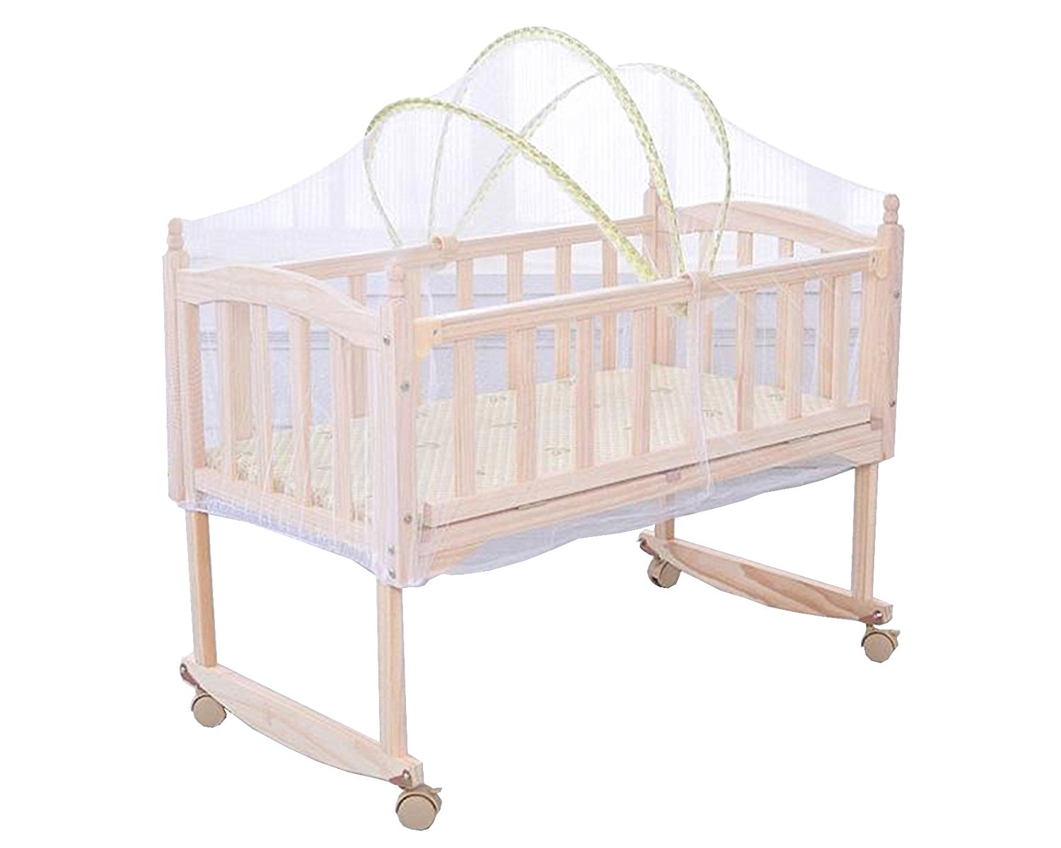 Agfabric Baby Cradle Bed Mosquito Net,Mosquito Guard Baby Crib Netting Tent Bedding for Baby Kids Children's Room, Folding Tent Bedding