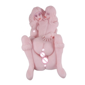 16.5kg retailer package sexy women rubber toy twin sisters dual pussies anals masturbator doll for male