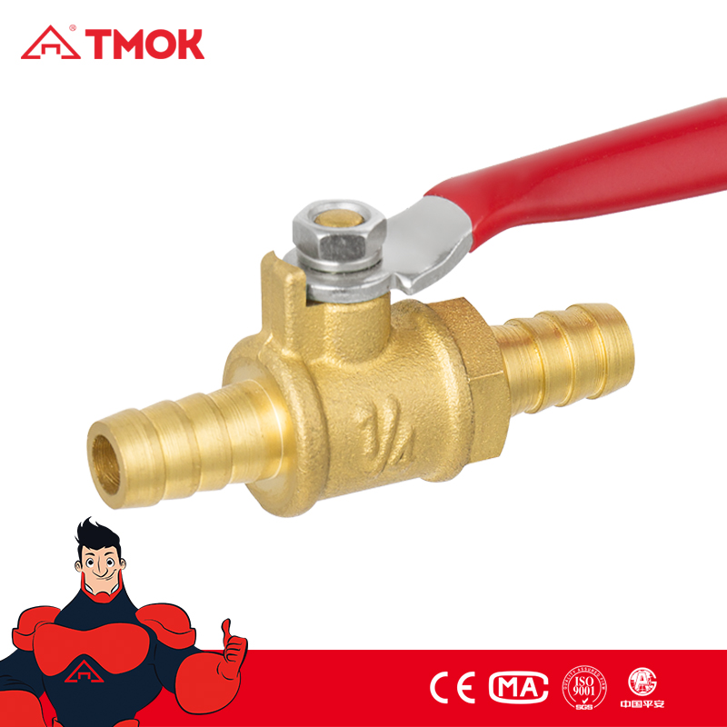 made in China double male gas cooker valve1/4 inch mini bronze gas valve with thread matorial Hpb57-3