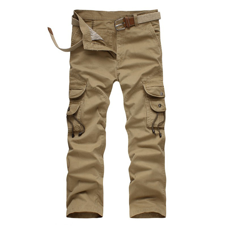 c4daee51f7f Get Quotations · 2015 Camping Man Military Army Baggy Pants Camouflage  Outdoors Mens Khaki Cargo Pants Men s Sport Joggers