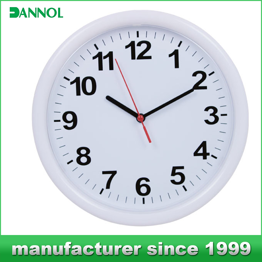 wholesale cheap promotional plastic wall clocks with company logo
