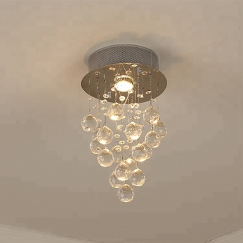 K9 Hanging Crystal Ball Ceiling Lighting Fixture Covers In Stair Balcony