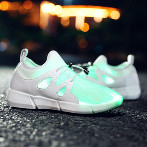 girls kids men women children adult battery operated  fiber optic led light up color changing sneaker casual  fashion shoes