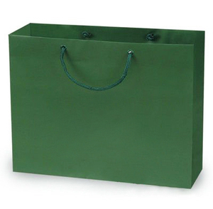 Reinforced Paper Bags, Recyclable, Forest Green