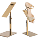 Polished Gold Shoe Rack Display Stand for Sale, Shoe Store Display Rack, Shoe Stand Display