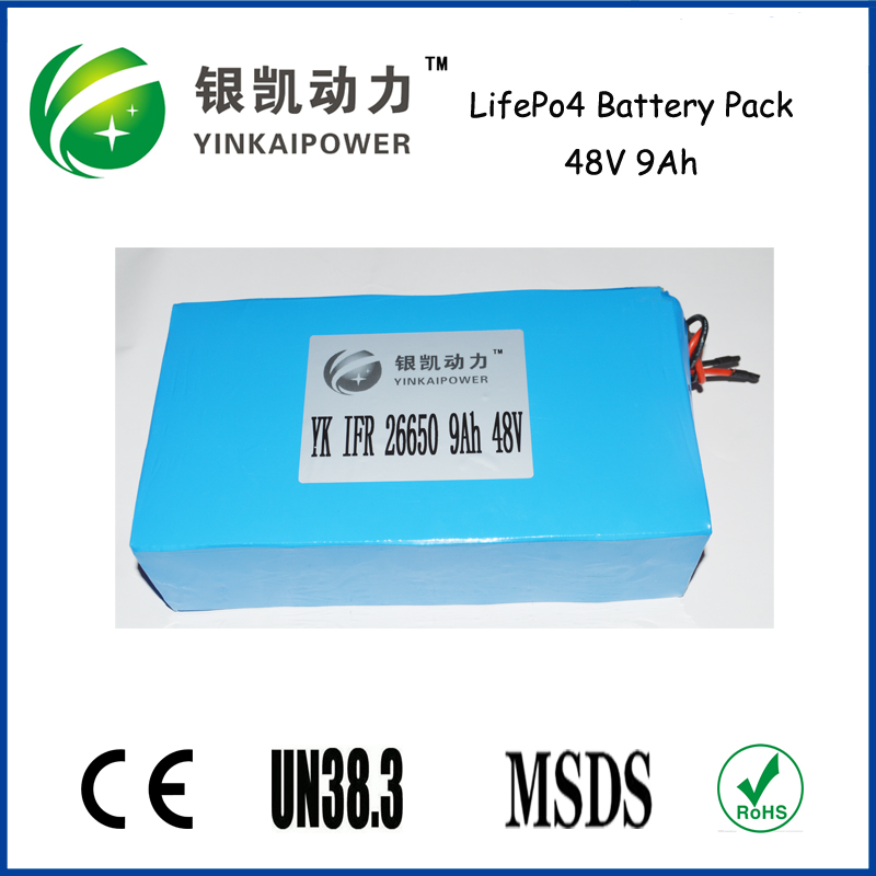 LiFePO4 Battery pack 48V 9Ah for Telecom UPS and Solar System