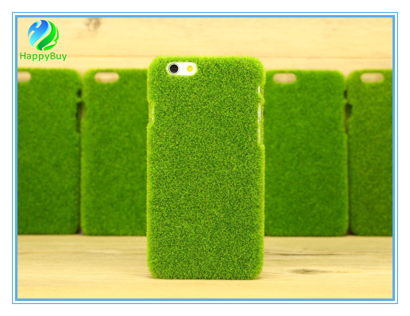 New and pure grass color mobile phone case for iphone6/6 plus,7/7 plus case with high quality PC material
