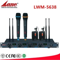 Lane high quality UHF wireless microphoneWireless Microphone System With 4 Channel Dynamic Microphone LWM-5638