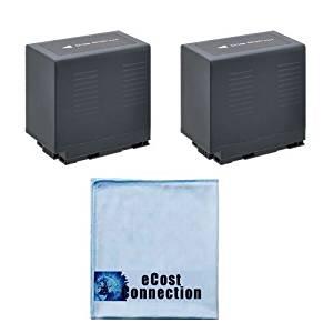 2 CGR-D54 Li-Ion Camcorder Battery for Panasonic AG-3DA1P, AG-DVC7, AG-DVC15, AG-DVX100, AG-DVX1000, HDC-Z10000, NV-C2, NV-C3, NV-C5, NV-C7, NV-DB1, NV-DA1EG, NV-DA1B & eCostConnection Microfiber Cloth