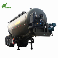 3 Axles Diesel Air Compressor Installed Bulk Cement Tanker Trailer