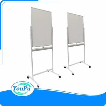 90x120cm Moving 360 Degrees Rotated Height Adjustable Mobile White Board Stand