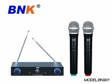 Professional Wireless Microphone Hệ Thống <span class=keywords><strong>Cầm</strong></span> <span class=keywords><strong>Tay</strong></span> Kép Hai <span class=keywords><strong>Mic</strong></span> Cordless Receiver BK901