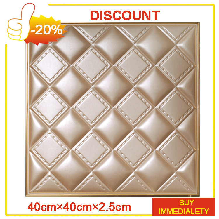 BOCAS Waterproof PVC 3d Ceiling Decorative 3d Panel PVC Wall Panels For Bedroom TV Background Faux Leather Wall Panels