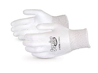 Superior S13SXPUQ Superior Touch Dyneema Economy String Knit Glove with Polyurethane Coated Palm, Work, Cut Resistant, 13 Gauge Thickness, Size 12, White (Pack of 1 Pair)