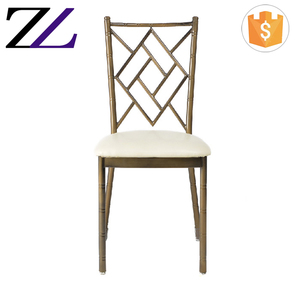 wholesale iron stacking hotel dining tiffany chair royal wedding king and queen used banquet chair