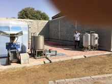 biogas plant for generating and cooking in farms