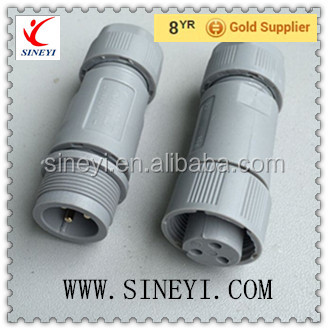 IP68 waterproof connector 3 core PA66 plug male and female connector with cap