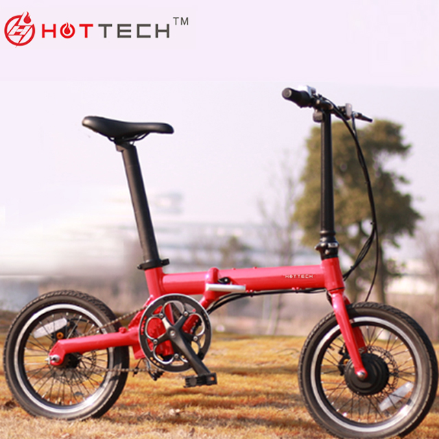 Hottech 36V Lithium Battery Powered Electric <strong>Fold</strong> up Bike Ebike 16 inch