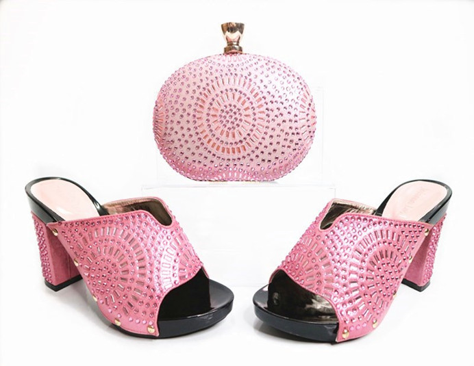 and set High shoes for and italian quality party shoes bag purse for wholesale lady OOSPrTn