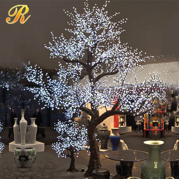 handmade iron christmas tree led willow tree outdoor decoration tree with simulation trunk