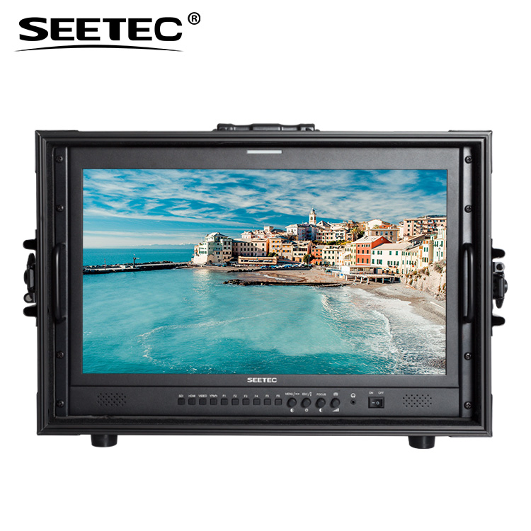 Seetec IPS Full HD 1920x1080 carry-on 22 inch widescreen monitor with 3G/HD/SDI input and output